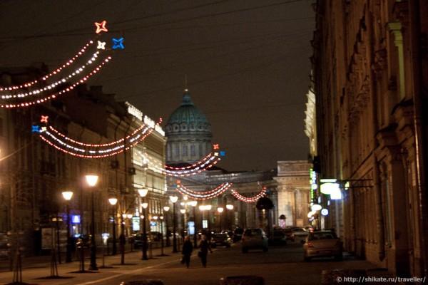 Вид на Казанский собор