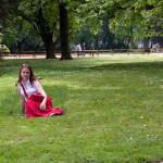 Катя и газон
