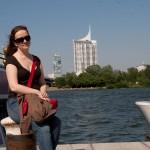 Вид на Дунай с причала, Wienn, Austria