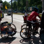 Велосипедист с прицепом, Wienn, Austria