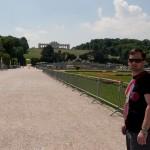 Дворец Шёнбрунн, аллея от дворца к террасе Глориетт, Wienn, Austria