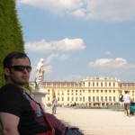 Дворец Шёнбрунн, вид на дворец, Wienn, Austria